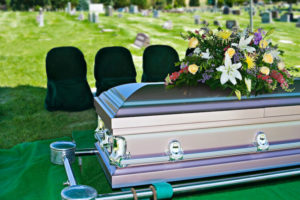 Casket About To Be Interred