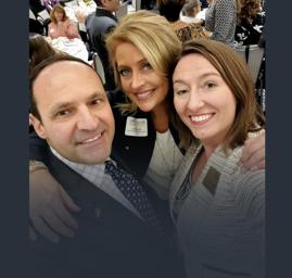 Dave Perotto, Andrea Ruggieri and Heather Henderson